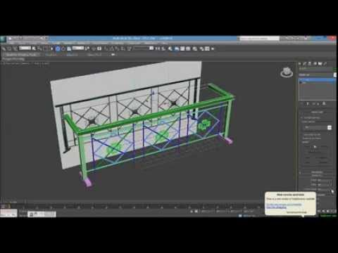 How to make exterior balcony design model with 3ds max for 3ds max architectural modeling tutorials pdf