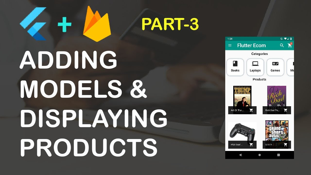 Flutter Ecommerce App Part 3 (Displaying Products)