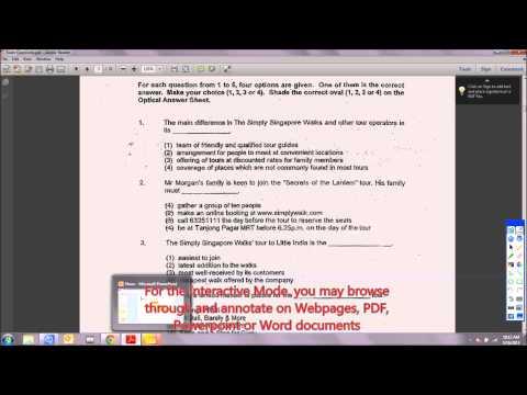 Sony Projector IPU-1 Tutorial 02 : Interactive Mode, Whiteboard Mode