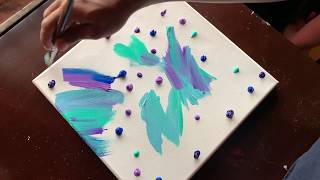Northern lights  Acrylic Painting Demonstration  For Beginners  Daily Art Therapy