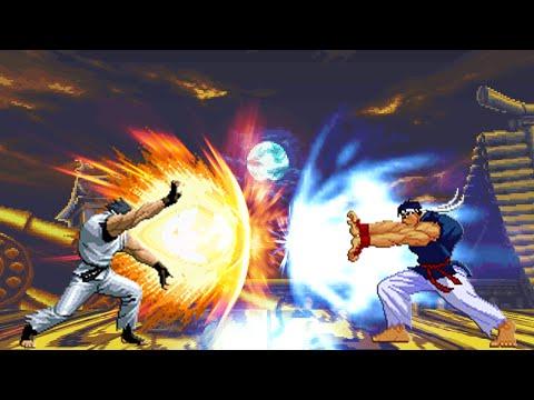 [King of Fighters vs. Street Fighter] Ryo Vs Shin Ryu |