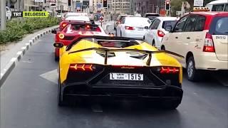 Lamborghini Aventador Egzozdan Çıkan Ateşle Alev Alev Yandı