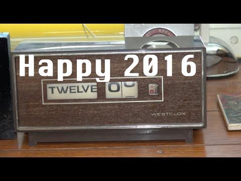 Happy New Year 2016 on a vintage Westclox...