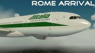 [P3D] Alitalia A330 Approaching Rome Fiumicino - ILS 16R | MAX REALISM | P3D MOVIE
