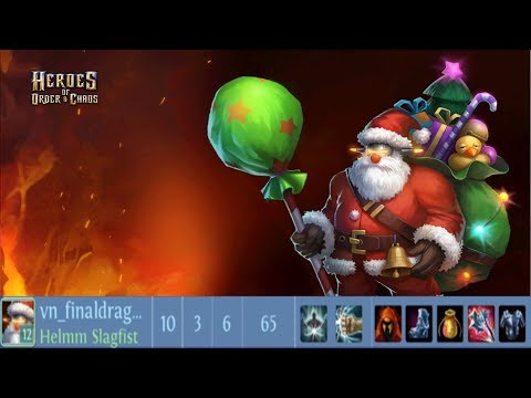 Heroes Of Order & Chaos - Helm - Santa Claus Skin Limited - 5vs5