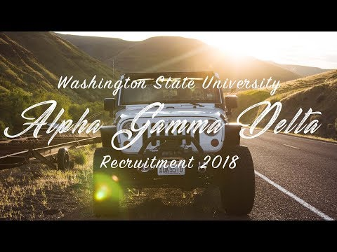 Alpha Gamma Delta | Washington State University | Recruitment 2018