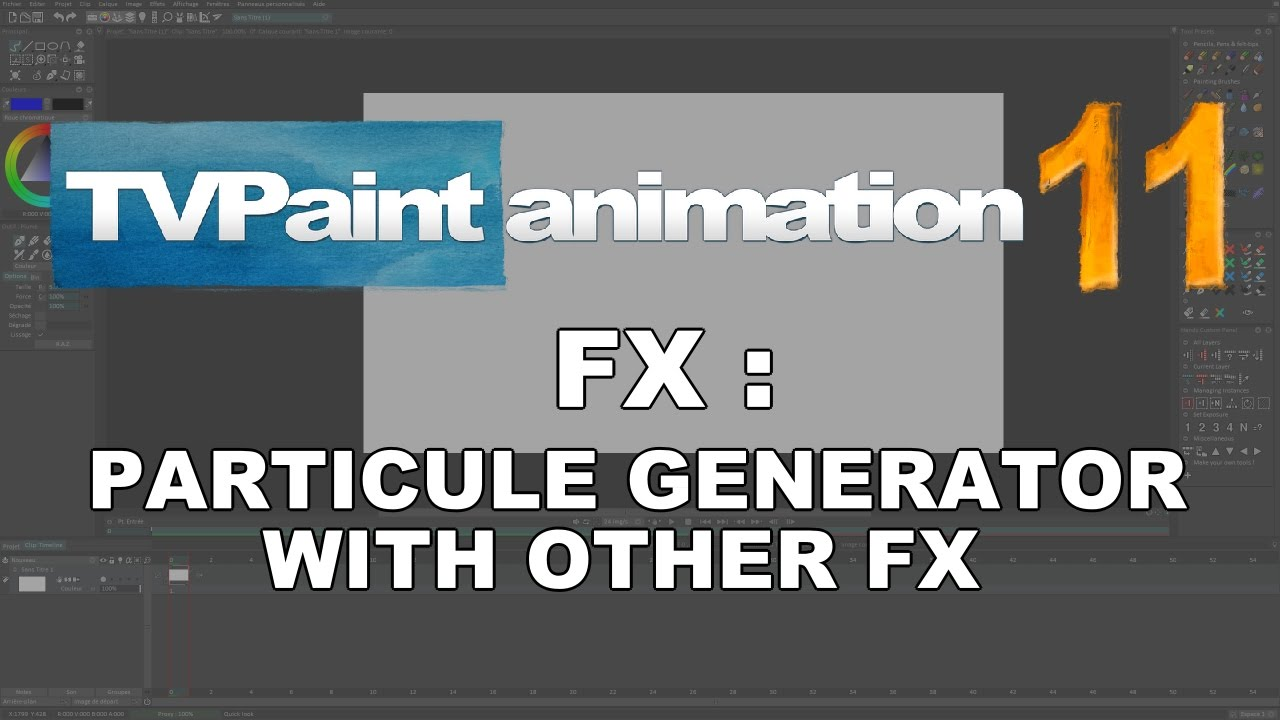 FX : Combining Particle Generator with other FX (TVPaint Animation 11  tutorial)