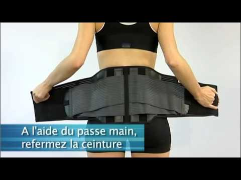 ceinture lombaire lombacross activity thuasne youtube. Black Bedroom Furniture Sets. Home Design Ideas