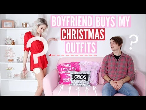 BOYFRIEND BUYS GIRLFRIENDS CHRISTMAS OUTFITS | Sophie Louise