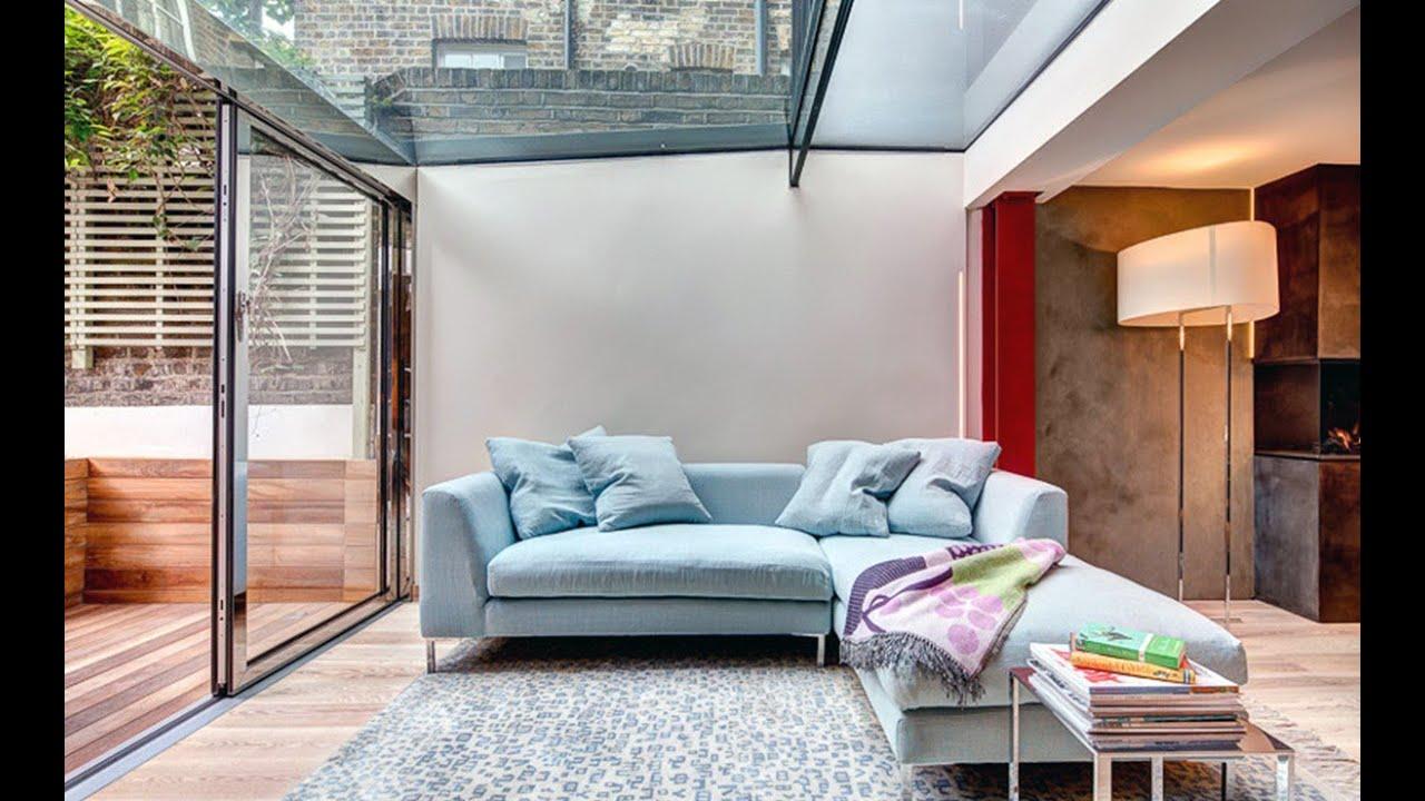 Light blue sofa living room