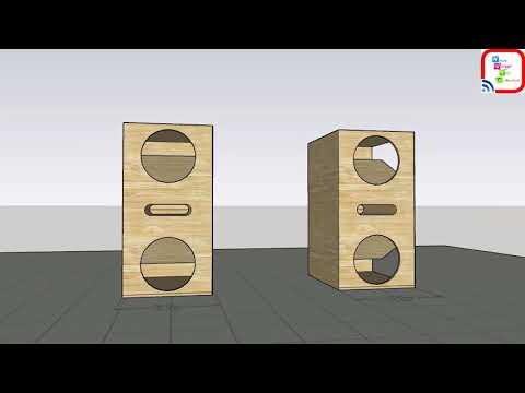 Box speaker dual full bass ...desain box speaker bass