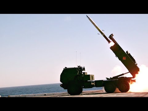 Watch U.S. Marines Launch Rockets From Ship – M142 HIMARS Live-Fire From Amphibious Transport Dock