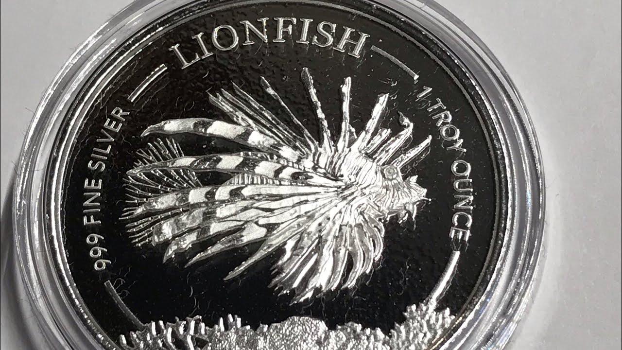 1oz Silver Bullion COIN Caribbean Seahorse Barbados 1 Dollar UNC 2018