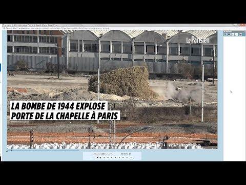 La bombe de 1944 a bien explosé Porte de la Chapelle à Paris