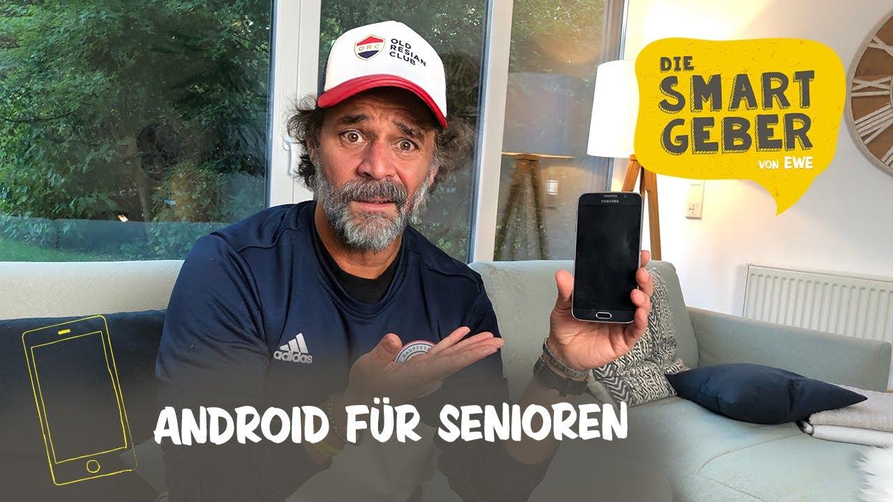 Smartphone für Senioren: So richtest du das Android Smartphone für Oma &  Opa ein!  Tutorial