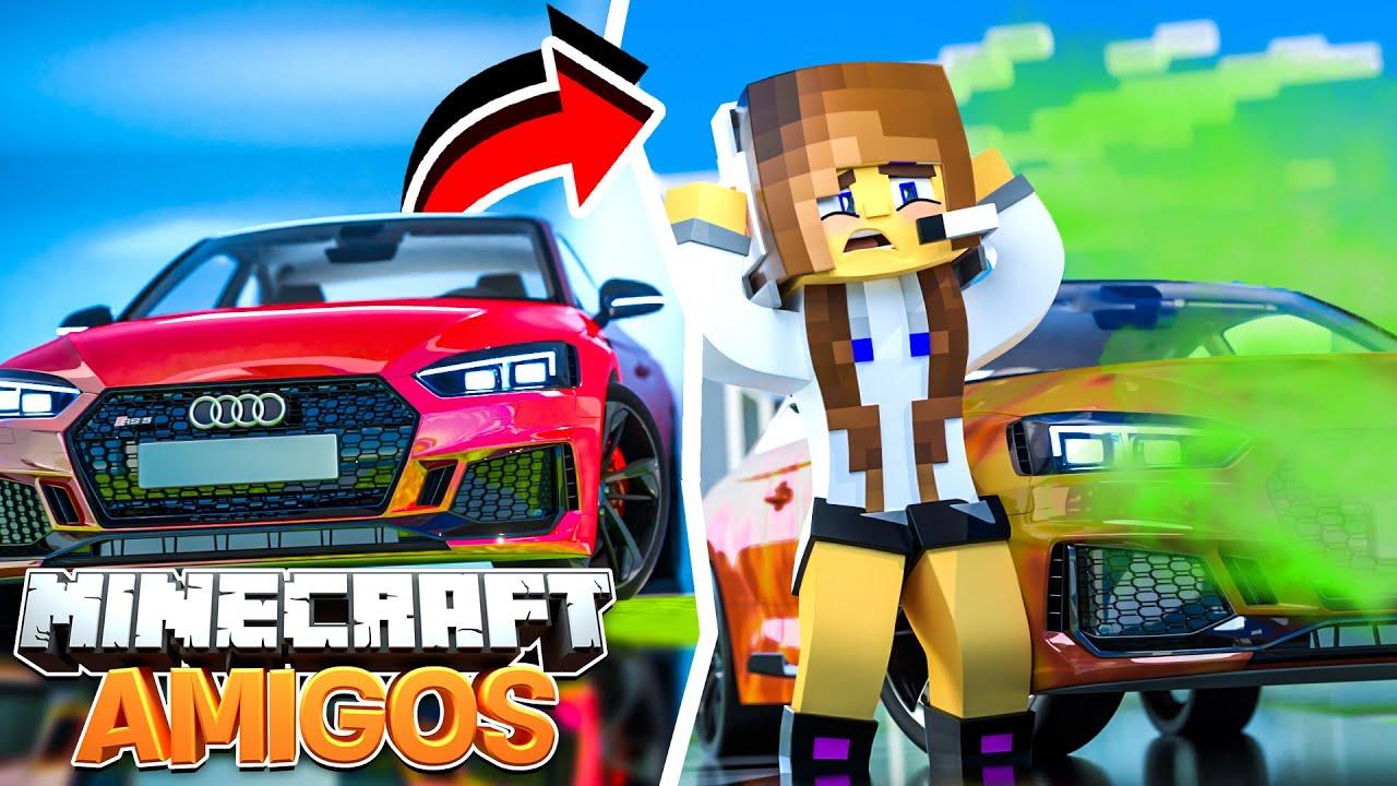 Minecraft AMIGOS - EP 26 | PINTARAM MEU CARRO NOVO!