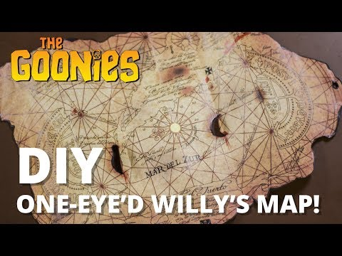 The Goonies: One-eyed Willy's Map DIY Tutorial!