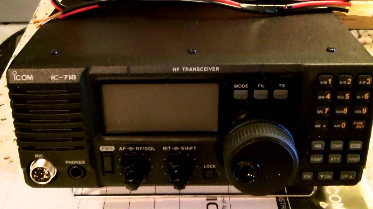 First Look- ICOM IC-718 HF Ham Radio 100 Watts