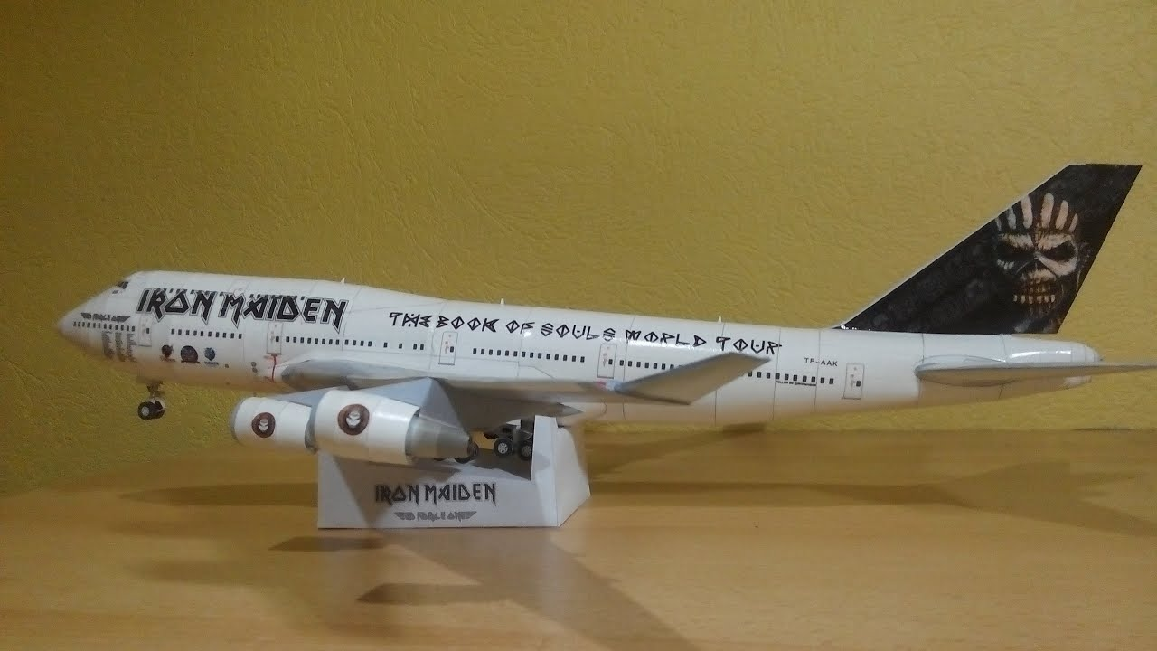 Papercraft Iron Maiden Ed Force One 747-400 Papercraft