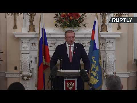 LIVE: Russian Ambassador to UK speaks in London following diplomats' expulsion