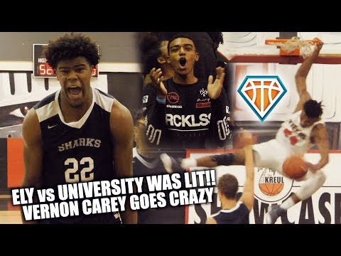 Vernon Carey SHUTS ITS DOWN at the Kreul Classic!! | University vs Ely Was DUMB LIT