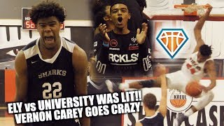 Vernon Carey SHUTS ITS DOWN at the Kreul Classic!! | University vs Ely Was DUMB LIT