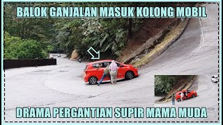 Download Balok Ganjalan Masuk Kolong Mobil, Drama Pergantian Supir Mama Muda di Sitinjau Lauik