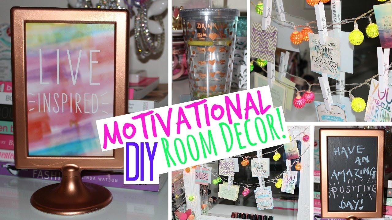 Motivational DIY Room Decor U0026 Tumbler Cup!   YouTube