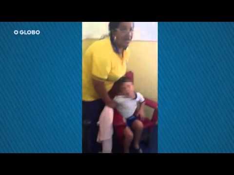 Pai flagra e grava filho amarrado em creche