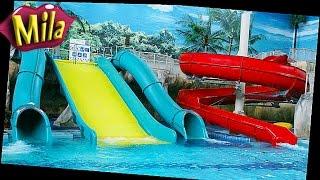 ♥ WATER PARK Limpopo Ride the Water Slides ♦ Аквапарк Лимпопо Милане один год(Катаем годовалого ребенка с открытой винтовой туннельной горки. Плаваем в волновом бассейне. Катаемся..., 2015-10-05T15:50:50.000Z)