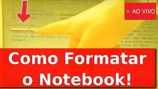 Como Formatar o Notebook em 30 minutos! - ao Vivo! thumbnail