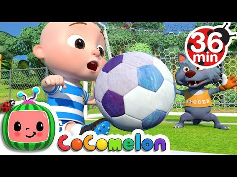 the soccer football song more nursery rhymes amp amp kids songs cocomelon