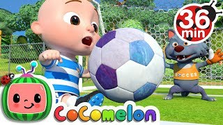 The Soccer (Football) Song + More Nursery Rhymes & Kids Songs  CoComelon