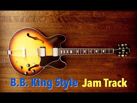 B.B. King Style Blues Jam Backing Track (G)