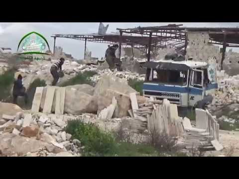 حلب: الجبهة الشامية: الجيش السوري الحر: تفجير تحصينات قناصي النظام ومقتل 5 عناصر على تلة المياسات