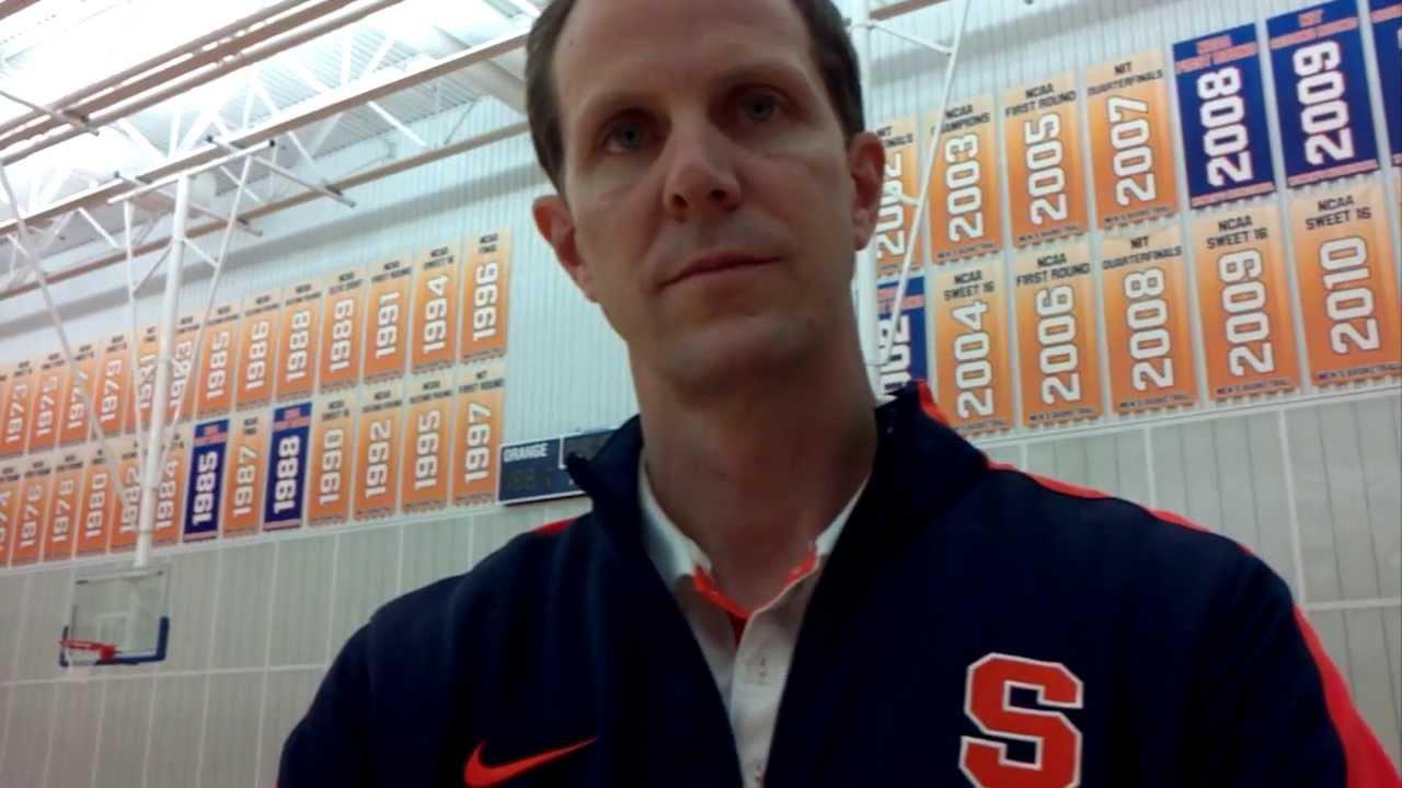 Dan Tortora With Mike Hopkins Syracuse Orange Men S Basketball Assistant Coach