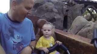 Seven Dwarfs Mine Train Roller Coaster at Magic Kingdom Disney World 2015
