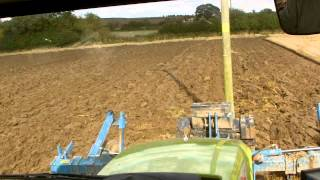 Claas and Case working around telegraph poles!