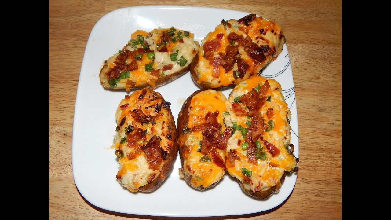 Twice Baked Potatoes In Airfryer Air Fryer Potato Recipes Youtube