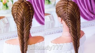 Красивые прически. Коса Рыбий Хвост. Amazing Hairstyle Tutorial Compilation 2018