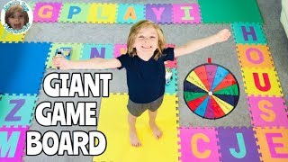 Giant Board Game Challenge || Winner Gets $$ Toys || Jace's Toy Playhouse Family Game Night