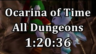 Ocarina of Time All Dungeons Speedrun in 1:20:36