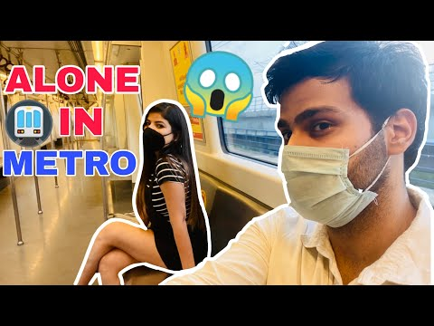 Alone In Delhi Metro With Instagram Girl 😱 After Lockdown (First Day Experience )