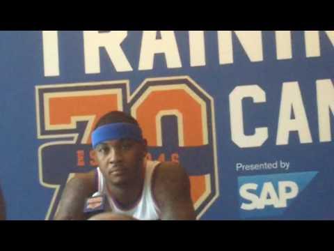 Carmelo Anthony excited & optimistic, talks DRose & Focus