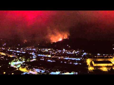 Kota Kinabalu Penampang Lama Hills Fire