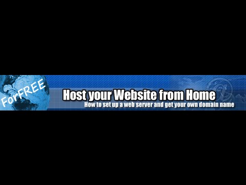 How to host your own website from home-No money