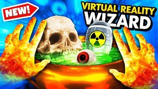 Creating MAGICAL POTIONS To DESTROY THE WORLD In VR (Waltz of the Wizard VR Funny Gameplay)