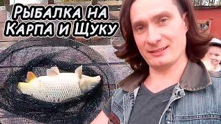 Рыбалка На Карпа И Первая в Жизни ЩУКА