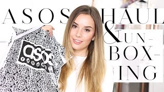 ASOS UNBOXING HAUL & TRY ON + TOPSHOP HAUL | Hello October