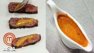 Cooking A Delicious Sauce To Match A Medium Rare Steak    MasterChef Asia   MasterChef World